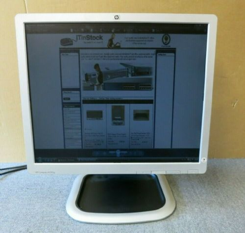 "HP LA1951g 577110-100 577993-001 Black And Silver 19"" LCD TFT Monitor VGA DVI"